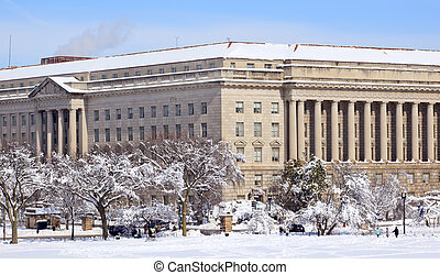 Commerce Department After the Snow Constitution Avenue ...