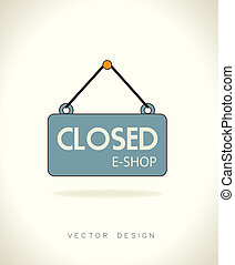 commerce design over gray background vector illustration