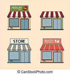 commerce design over cream background vector illustration