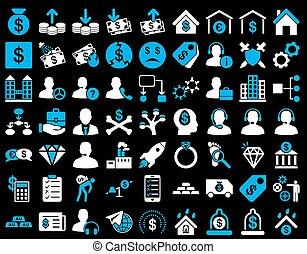commerce, ensemble, icône