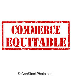 Grunge rubber stamp with text Commerce Equitable, vector illustration