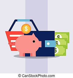 commerce, faire courses ligne