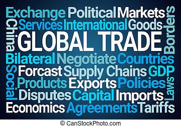 commerce global, mot, nuage