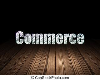 commerce, grunge, finance, sombre, concept:, salle