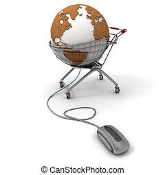 commerce international, ligne