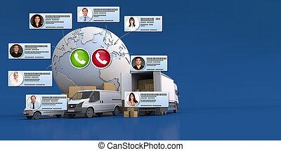 commerce, international, plate-forme, ligne