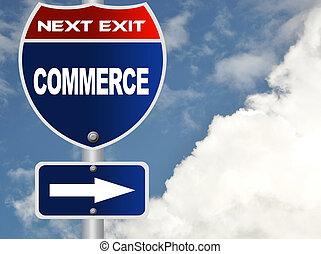 Commerce road sign