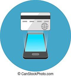commerce, smartphone, concept., isométrique, design.
