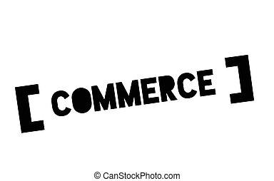 Commerce typographic stamp