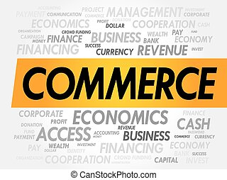 COMMERCE word cloud