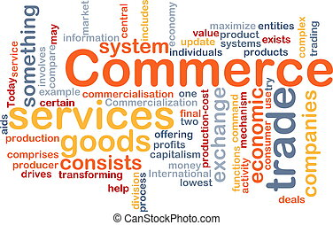 Commerce word cloud - Word cloud concept illustration of ...