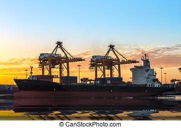 commercer, port
