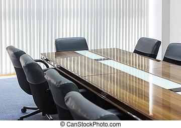 commerciële vergadering, kamer, in, kantoor