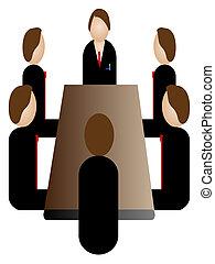 commerciële vergadering, pictogram