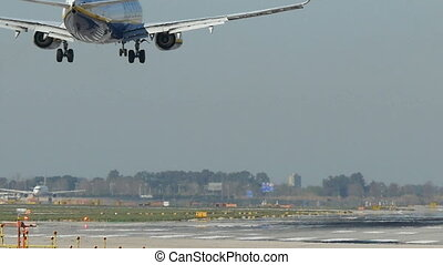 Commercial Aircraft Landing