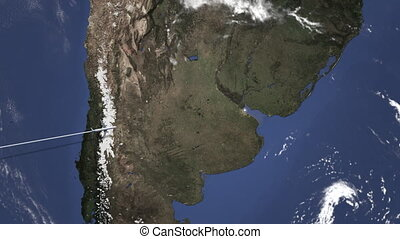 Commercial airplane flying to Buenos aires, Argentina from ...