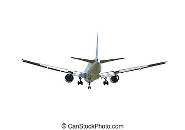 Commercial airplane isolated on white background with clipping path
