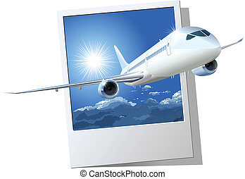 commercial airplane - passenger DreamLiner. Available EPS-8...