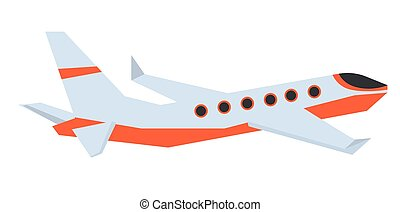 Commercial airplane vector cartoon illustration.