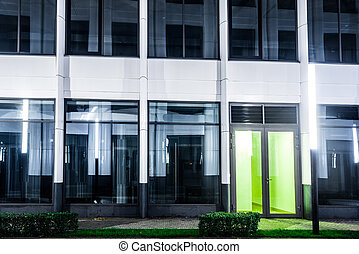 commercial architecture at night