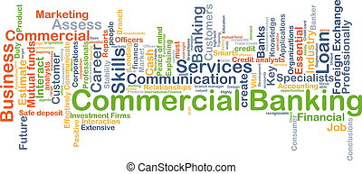 Commercial banking background concept