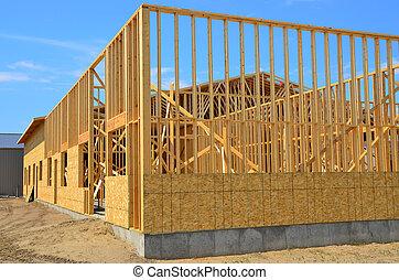 Commercial building construction.