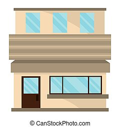 commercial building exterior isolated style