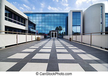 Commercial building facility - Modern commercial building...