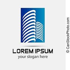 Commercial building logo