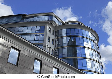 commercial building - Low angle view of a modern commercial...