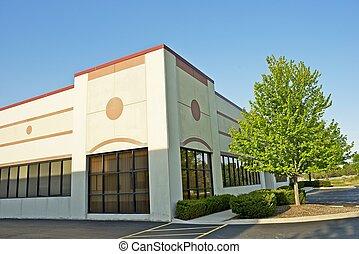 Commercial Building - Retail Building Corner Office Space. ...