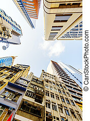 Commercial buildings and residential buildings in Hong Kong