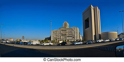 Commercial center of Jeddah at noon