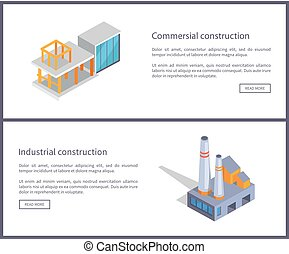 Commercial Construction Set Vector Illustration