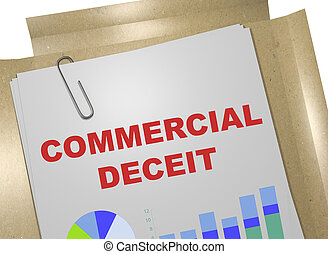 Commercial Deceit concept - 3D illustration of 'COMMERCIAL...