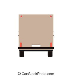 Commercial Delivery Van, Cargo Truck isolated on white. Vector illustration