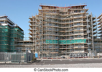 Commercial Development - Complex scaffolding on new...