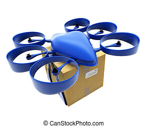 Commercial drone with box