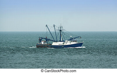 Commercial Fishing Boat - Commercial fishing boat on the...
