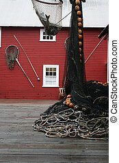 Commercial Fishing - commercial salmon fishing equipment on...