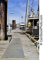 Commercial Fishing Dock in Vancouver Island Canada -...