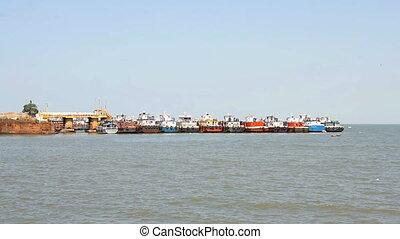 commercial fishing fleet based in the port