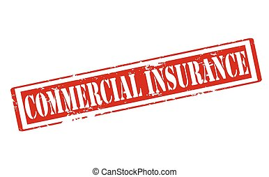 Commercial insurance - Rubber stamp with text commercial...