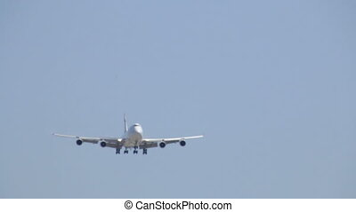 Commercial Jet Plane in Flight - Aircraft Boeing 747-400 ...