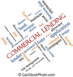 Commercial Lending Word Cloud Concept Angled - Commercial...