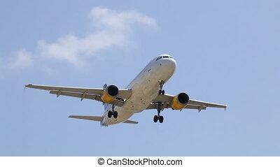 Commercial Plane Landing
