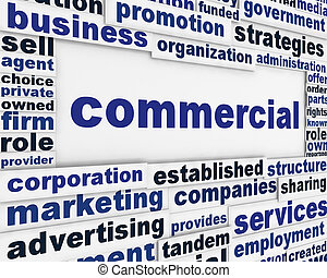 Commercial poster concepual design. Business activity...