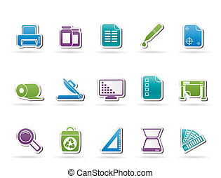 Commercial print icons