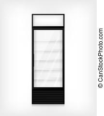 Commercial refrigerator illustration