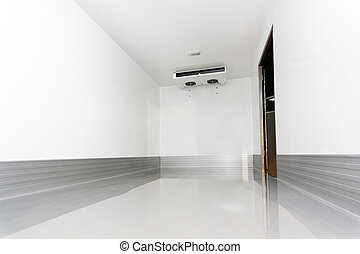 Commercial refrigerator - Interior of commercial...